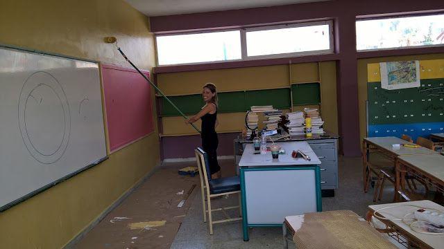 Οι γονείς του 1ου Δημοτικού Σχολείου Ελληνικού με την στήριξη των εταιριών KRAFT Paints - BERLING ABEE & ROLLEX ABEE Σ.Κ. ΜΑΝΤΟΥΔΗΣ έβαψαν τις σχολικές αίθουσες