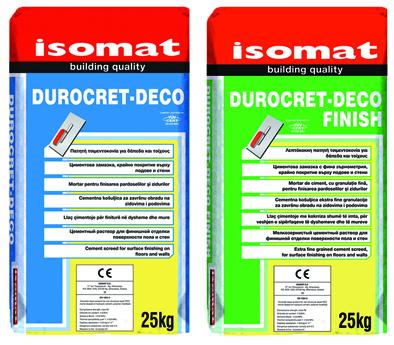 DUROCRET-DECO & DUROCRET-DECO FINISH